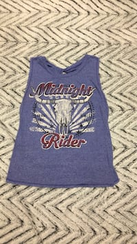 blue and white printed tank top 376 mi