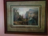 brown wooden framed painting of house Edison, 08817