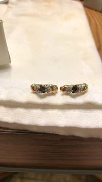 Dark Blue & Clear Stones in Gold Colored Setting Oklahoma City, 73149