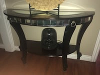 Wood table with mirror accents  2268 mi