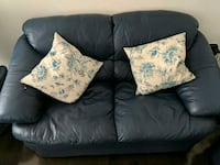 Blue leather 2-seat sofa Brampton, L6Y 0B7