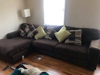 Clean comfy sectional sofa Arlington, 22202