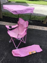 pink camping chair