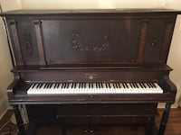 Black and white upright piano Toronto, M6C 2X7