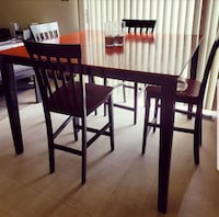 Black & Cherry Oak Table w/ 4 chairs  District Heights, 20747