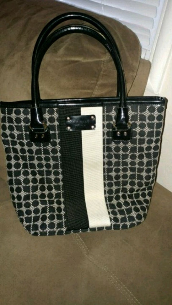 86f4fe6709 Used black and gray Kate spade tote bag for sale in San Leandro - letgo