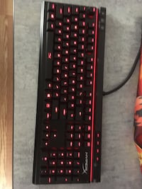 HyperX full keyboard | cherry MX red switches