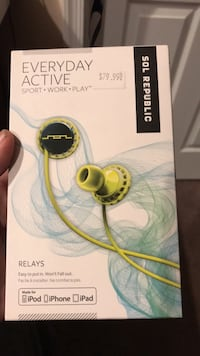 brand new never opened sol republic everyday active earphones make an offer