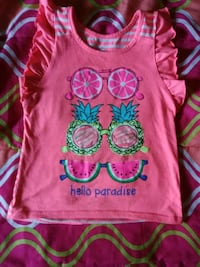 Pink graphic tank top Akron, 44306