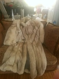 gray and white fur coat Bowie, 20721