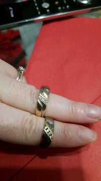 Two mens 10k gold rings with diamonds  Surrey, V3S 9Y4
