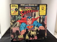 Vintage Superman Book and Record Set   Planet Aid Thrift Center Catonsville, Md 21229 Baltimore, 21229