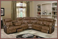 Walnut bonded leather sectional Silver Spring, 20906