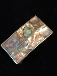Sterling silver and abalone shell belt buckle
