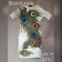Brand New With Tags Peacock Dress Edmonton