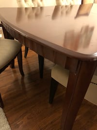 A DINING TABLE WITH 8 CHAIRS SET KITCHEN DINING ROOM CHAIRS BIEGE TABLE BROWN Yonkers