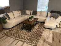 Designer white leather couch  Fort Lauderdale, 33311