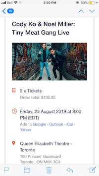 Two Tiny Meat Gang Concert Tickets Toronto, M5C 3G6