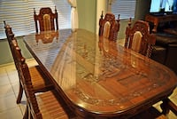 ONE OF A KIND! Hand carved Last Supper Dining Room Set with 8 Chairs Tampa, 33626