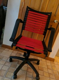 black and red wooden armchair Temple Hills, 20748