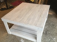 Huge 4ft by4ft distressed white coffee table  361 mi