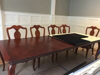 rectangular brown wooden table with chairs Edgewater, 21037