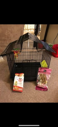 Black and red metal pet cage Fort George G Meade, 20755