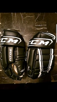two black-and-white Bauer gloves Barrie, L4M