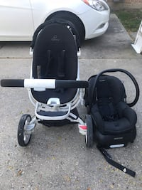 baby's black and gray travel system Wilmette, 60091