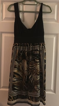 Black and patterned dress