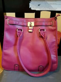 pink leather 2-way handbag Laval