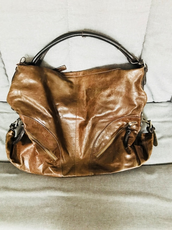 133b47fb503a Used Tano Brown Leather Handbag for sale in New York - letgo