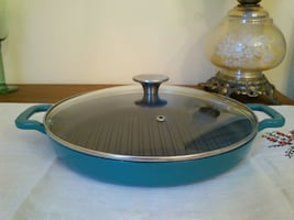 Food Network Enameled Cast Iron Nonstick Grill Pan