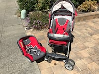 Travel system : chicco stroller and car seat Foster City, 94404