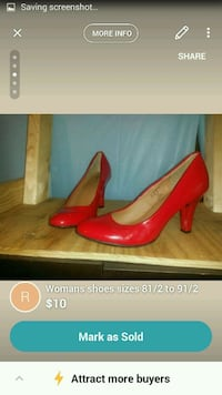 pair of red leather pumps screenshot Louisville, 40208