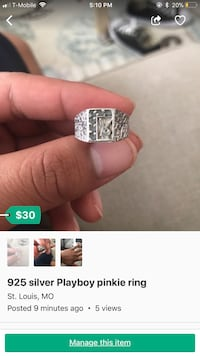silver-colored diamond ring St. Louis, 63111