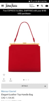 Mansur Gavriel - Elegant Leather Top - Handle Bag - Handbag Toronto