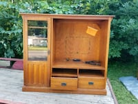 brown wooden TV hutch with cabinet Niles, 49120