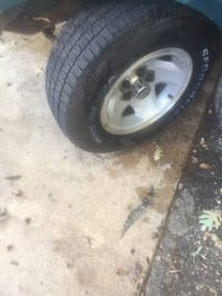 Like New Tires and chevy wheels