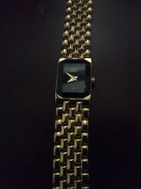 square gold-colored analog watch with gold-colored link bracelet St. Louis, 63113