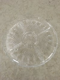 "11"" Glass serving plate"