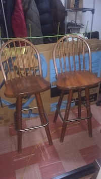 Two brown wooden windsor chairs Toronto, M3H 1W7