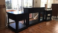 Black wooden tv/sofa stand and two mstching end tables Spring Hill, 34606