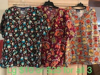 two black and yellow floral scrub shirts Keystone Heights, 32656