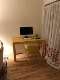 West elm parsons desk and chair yellow  New York, 10011