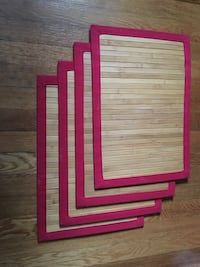 4 placemats - wooden feel Boston, 02115