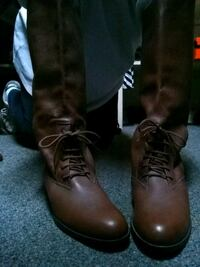 ,brown leather equestrian boots North Providence, 02904