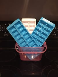 Ice cube trays and bucket