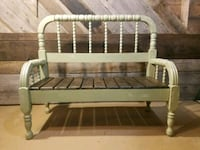 Bench made from an old mattress frame  Chicago, 60623