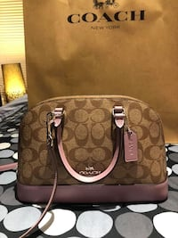 - Coach Mini Sierra Satchel in Signature Canvas Markham, L3P